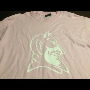 Duke University Logo Women's T-shirt Pink Size L
